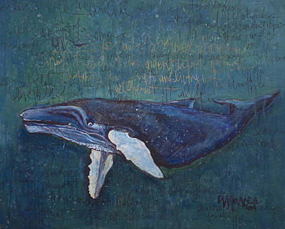 Painting - Speaking Whale by Laurie Maves ART