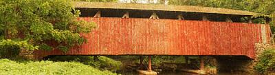 Photograph - Speakman Coverd Bridge by Michael Porchik
