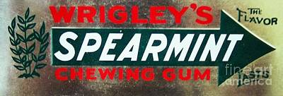 Spearmint Gum Sign Vintage Art Print