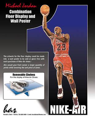 Michael Jordan Mixed Media - Spec For A Floor Display by Harold Shull