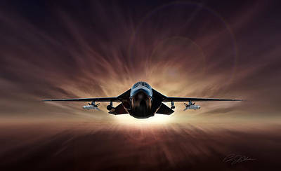 Jets Digital Art - Special Delivery F-111 by Peter Chilelli