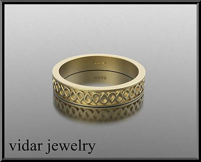 14k Jewelry - Special Design 14kt Yellow Gold Woman Wedding Ring by Roi Avidar
