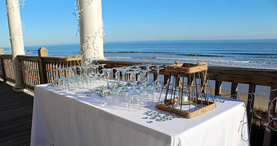 Glassware Digital Art - Special Event At The Beach by Cynthia Guinn