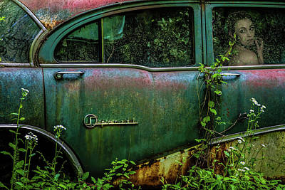 Rusted Cars Photograph - Special Girl by Tony Mearman