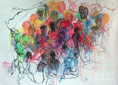 Creativity Drawing - Special Needs Family by David Baruch Wolk