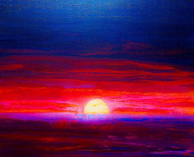 Painting - Special Sunset 2008 by Karl Leonhardtsberger