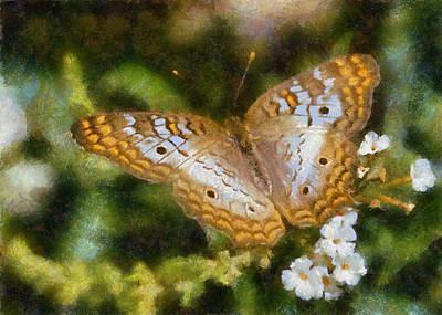 Digital Art - Speckled Butterfly by Charmaine Zoe