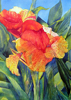 Painting - Speckled Canna by Annika Farmer