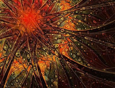 Framed Art Digital Art - Speckled Copper by Amanda Moore