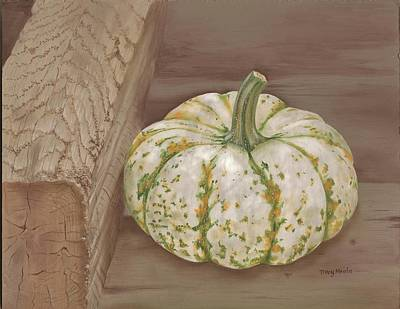Farmstand Painting - Speckled Gourd by Tracy Meola