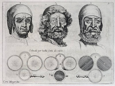 Sight Drawing - Spectacles For All Strengths Of Vision by Cornelis Jansz. Meyer