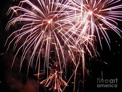 Digital Art - Spectacular Fireworks by Angelia Hodges Clay