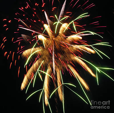 Photograph - Spectacular Fireworks. Square Format by Ausra Huntington nee Paulauskaite