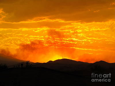 Photograph - Spectacular Nevada Sunset  by Phyllis Kaltenbach