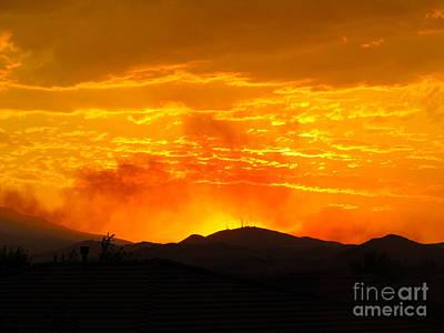 Mellow Yellow - Spectacular Nevada Sunset  by Phyllis Kaltenbach
