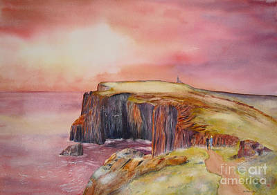 Painting - Spectacular On The Isle Of May Scotland by Beatrice Cloake