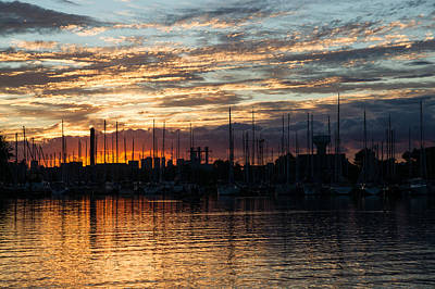 Photograph - Spectacular Sky - Toronto Beaches Marina by Georgia Mizuleva