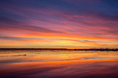 Photograph - Spectacular Sunset At Boundary Bay Bc by Pierre Leclerc Photography