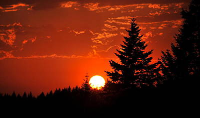 Spectacular Sunset IIII Print by Kathy Sampson