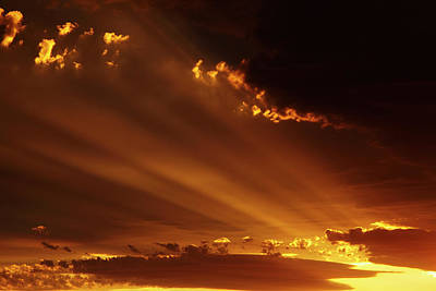 Island Light Photograph - Spectacular Sunset Over Mossburn by David Wall