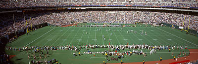 Veterans Stadium Photograph - Spectator Watching A Football Match by Panoramic Images