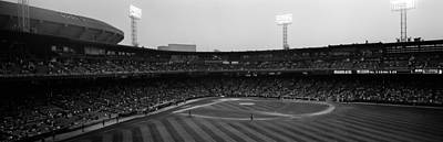 Spectators In A Baseball Park, U.s Art Print by Panoramic Images