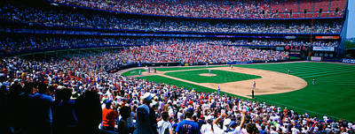 Spectators In A Baseball Stadium, Shea Art Print