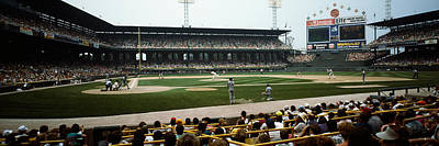 Baseball Stadiums Photograph - Spectators Watching A Baseball Match by Panoramic Images