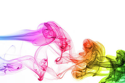 Morphing Photograph - Spectrum Colors On Smoke by Assalve
