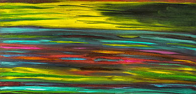 Painting - Spectrum Magnetic Painting - Sold-original by Renee Anderson