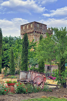 Castello Photograph - Spedaletto - Tuscany Castle by Joana Kruse