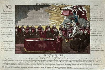 Speech Of Louis Xvi To The Assembly Art Print