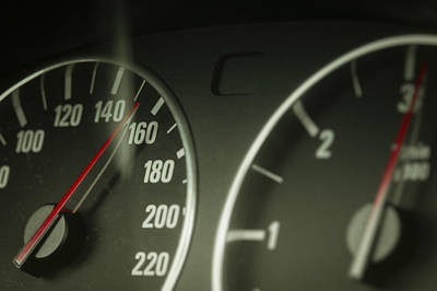 Photograph - Speed And Revolution Gauges Close-up by Vlad Baciu
