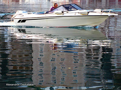 Hydra Island Photograph - Speed Boat In Hydra by Alexandros Daskalakis