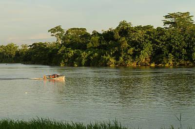 Amazon River Photograph - Speed Boat, Napo River, Amazon by Pete Oxford
