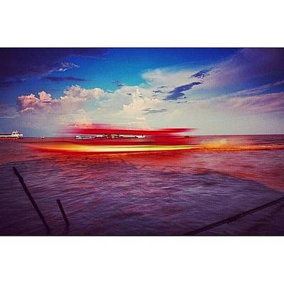 Sunny Photograph - Speed Boat Passing The Floating Village by Sunny Merindo