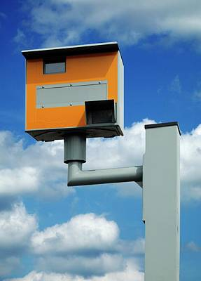 Traffic Enforcement Photograph - Speed Camera by Mark Sykes