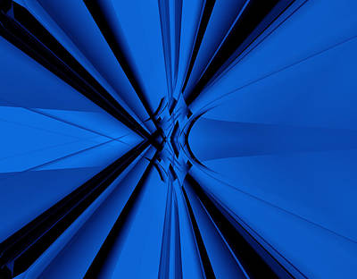 Artistic Photograph - Speed In Blues by Modern Art Prints