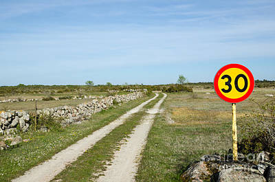 Photograph - Speed Limit Sign At Rural Tracks by Kennerth and Birgitta Kullman
