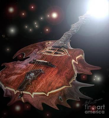 Speed Of Sound Digital Guitar Art By Steven Langston Art Print by Steven Lebron Langston