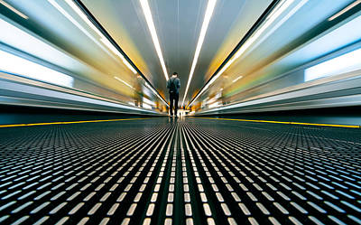 Railroad Station Photograph - Speed by Sebastian-alexander Stamatis
