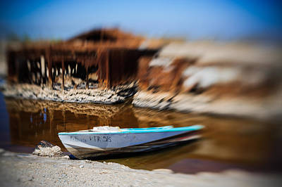 Photograph - Speeding Away Boat Hull by Scott Campbell
