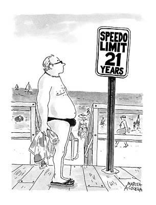 Speedo Limit: 21 Years Art Print by Marisa Acocella Marchetto