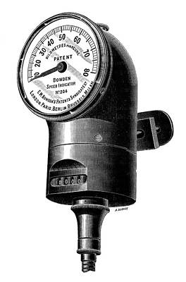 Speedometer Art Print by Science Photo Library
