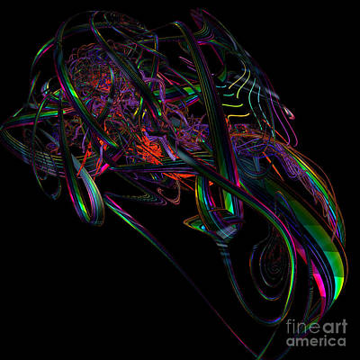 Green Surreal Geometry Digital Art - Speedster By Jammer by First Star Art
