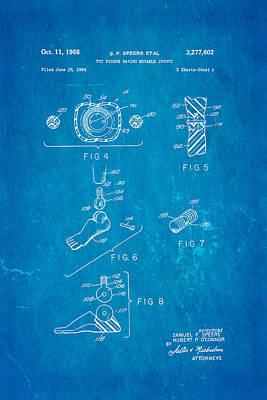 Speer Photograph - Speers G I Joe Action Man 2 Patent Art 1966 Blueprint by Ian Monk