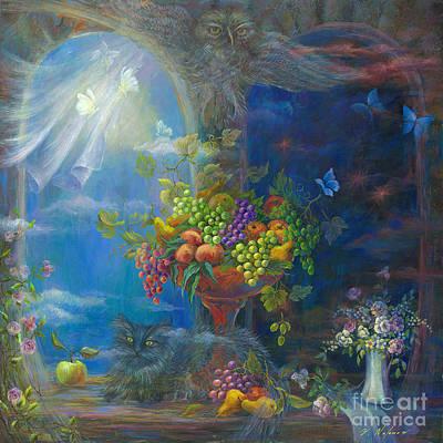 Fruit Bowl Window Painting - Spells by Vladimir Nazarov