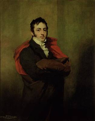 Cravat Photograph - Spencer, 2nd Marquess Of Northampton, 1821 by Sir Henry Raeburn