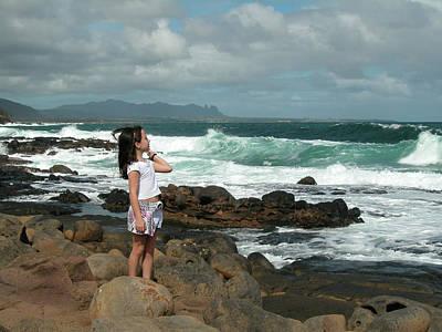 Kauai Girl Photograph - Spencer On Kauai Coast by Bob Weibler