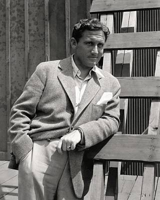 Black And White Photograph - Spencer Tracy Wearing A Tweed Sports Jacket by Imogen Cunningham